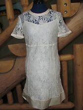 NEW NWT MARC by MARC JACOBS IVORY LACE & SILK BLEND DRESS SZ 2