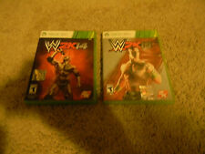 WWE 2K14 & 2K15, XBOX 360, 2 GAMES, COMPLETE W/MANUALS
