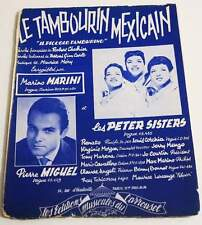 Partition sheet music MARINO MARINI / PETER SISTERS / PIERRE MIGUEL * 50's