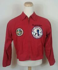 BSA Vtg 50s 60s RED BOY SCOUT JACKET Patches Evansville Indiana Indian Buffalo