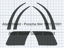 Porsche 944 set clear Or Black Textured arch Stone guard Protection Decals Foils