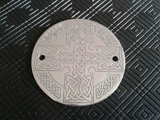 CNC ENGRAVED ALUMINIUM CELTIC KNOT CROSS TIMER COVER HARLEY DAVIDSON BUELL