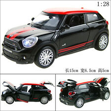 1:28 Mini Cooper PACEMAN Alloy Diecast Car Model Toy Vehicle Sound&Ligh​t Black