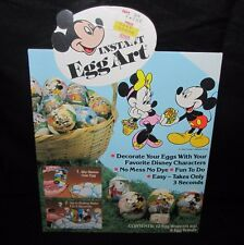 Instant Egg Art Easter Decorating Kit Disney Mickey Mouse Minnie Vintage 1981
