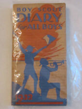"""1932 BOY SCOUT DIARY BOOKLET - EXCELLENT CONDITION  -  5 1/4"""" X 2 7/8""""  -  TUB G"""