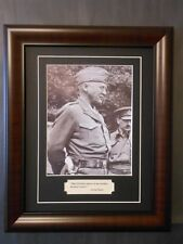 General George Patton World War 2 famous Quote and Photo Matted and Framed