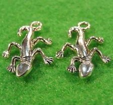 10Pcs. Tibetan Silver LIZARD Gecko Charms Pendants Earring Drops Findings W83