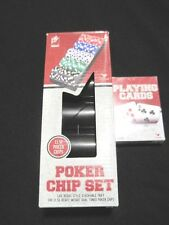 Deluxe Poker Chip 100 Piece Set Las Vegas Style Tray Heavy Duty NEW with Cards