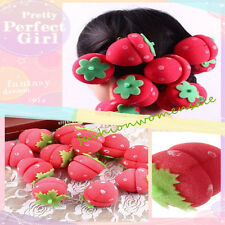 12pcs Hot Magic DIY Hair Strawberry Balls Soft Sponge Hair Curler Rollers FUS