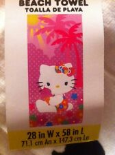"Hello Kitty Beach Towel 28"" by 58"".  100% Cotton"