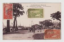 Pointe-a-Pitre,Guadeloupe,The Caribbean,Le Fond de la Darse,Used,3 Stamps,1926