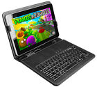 """10"""" Tablet PC Protector USB Keyboard Stand Holder w/ PU Leather Case Cover Pouch"""