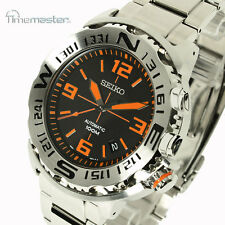 Seiko Superior Automatic Monster Black Face Orange Markers SRP443J1 SRP443