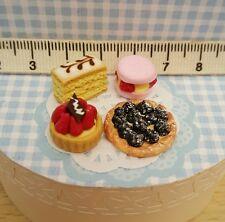 4 pâtisseries 1/12 maison de poupée vitrine dollhouse idéal barbie