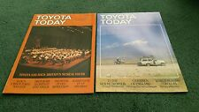 1987 TOYOTA TODAY Magazine 2 x ISSUES Soarer Landcruiser Corolla GT 16V BROCHURE