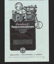 BAUTZEN, Werbung 1939, Eisengiesserei und Maschinen-Fabrik GmbH Rundsieb-Pappenm