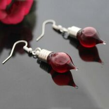 Punk Vampire Red Blood Bottle Gothic Earrings Hook Dangle Halloween Gifts New