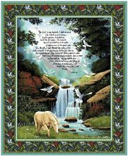 "Springs Creative 23rd PSALM Wall Hanging 100% cotton 44"" Fabric by the Panel 36"""