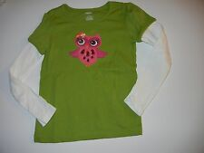 Gymboree Fall for Autumn 6 Green Owl Girls Shirt Top LR