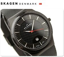 SKAGEN MEN'S ULTRA SLIM TITANIUM MESH BAND BLACK WATCH 234XXLTB