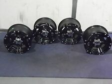 ITP SS212 BLACK ATV WHEELS SET 4 WITH CENTER CAPS & LUGS LIFE WARRANTY CAN2CA