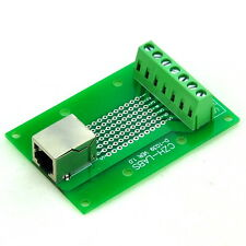 RJ11/RJ12 6P6C Right Angle Jack Breakout Board, Terminal Block Connector.