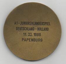 Orig.DFB Spielermedaille  11.11.1986  DEUTSCHLAND - NIEDERLANDE / in Box !!  TOP