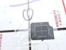1986 Arctic Cat Jag 4000: CAT aluminum dash plug plate #1
