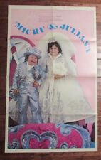 "1977 MICHU & JULIANA Poster 23x38"" Ringling Bros. Barnum & Bailey Circus Wedding"