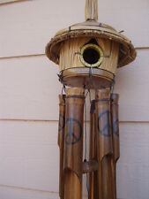 Bamboo Wind Chimes Tiki Bird House Peace Sign Symbol FREE SHIP