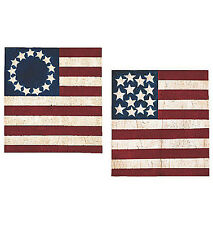 New Old Vintage American Flags 25 Warren Kimble Wallies Wall Stickers Border USA