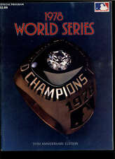 1978 WORLD SERIES YANKEES OFFICIAL PROGRAM LOT1132