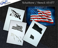 Step by Step Airbrush Stencil AS-077 M ~ Template ~ UMR-Design