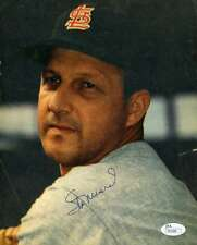 STAN MUSIAL VINTAGE JSA COA SIGNED 8X10 CARDINALS PHOTO AUTHENTICATED AUTOGRAPH