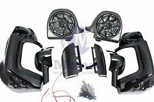 Mutazu Speaker Pod Lower Vented Fairing Kit fits Harley HD touring models Black