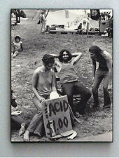 Rare Framed Hippie Outdoor Concert Acid Drug Sale Vintage Photo. Giclée Print