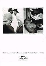 PUBLICITE ADVERTISING 074  1990  LONGCHAMP   sacs bagages