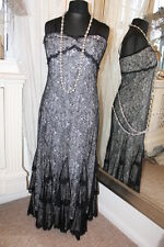 Joseph Ribkoff black lace party evening dress - Ditsy Vintage - Size 12