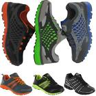 MENS RUNNING TRAINERS BOYS BLACK CASUAL WALKING RUNNING GYM SPORTS SHOES SIZE