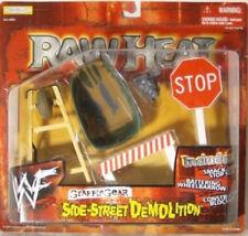 """WWF WWE Grapple Gear RAW HEAT """"Side Street Demolition"""" Wheel Barrow Jakks(MOC)"""