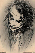 THE DARK KNIGHT - JOKER SKETCH POSTER - 22x34 BATMAN DC COMICS LEDGER 13555