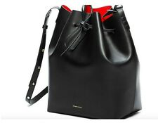 Mansur Gavrie Designer Fashion Women Bags Leather Shoulder Drawstring Bucket Bag