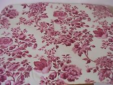 Pottery Barn Queen Size Duvet Cover Red Cream Floral Cottage Style