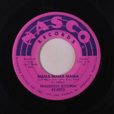 WARREN STORM: Mama Mama Mama / Prisoner's Song 45 (wol) Rockabilly