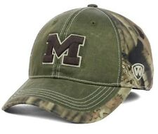Michigan Wolverines Top Of The World LayLow Mossy Oak Camo M/L Flexfit