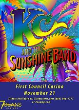 KC AND THE SUNSHINE BAND 2015 OKLAHOMA CONCERT TOUR POSTER - Disco, Funk Muisc