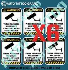 CCTV CAMERA SURVEILLANCE DECAL STICKER X6 PACK SELF ADHESIVE SAFETY OH&S DECALS