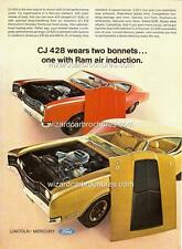 1969 FORD MERCURY CYCLONE COBRA JET CJ 428 RAM AIR A3 POSTER AD SALES BROCHURE