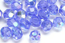 50 Sapphire AB Faceted Glass Beads 6MM SPECIAL