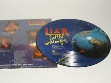 LIAR Set The World On Fire 1978 Dave Burton Paul Travis picture disc pd